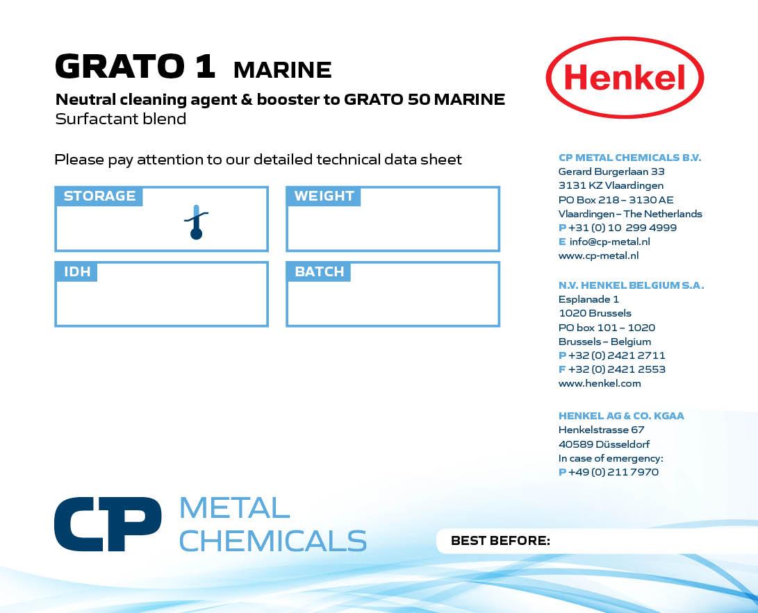 Grato 1 Marine - Multi-purpose tank cleaning chemicall